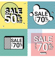 sale promotion banner pastel color for business vector image vector image