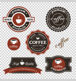 set coffee iconslabels posters signs banners vector image vector image