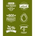 Set of organic food labels and design elements or vector image vector image
