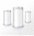 Set of round tins packaging vector image vector image