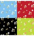set of summer floral patterns vector image vector image