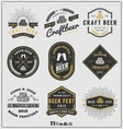 Set of vintage beer badge logo and labels template