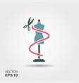 sewing mannequin icon in flat style isolated on vector image