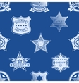 sheriff badge seamless pattern vector image vector image