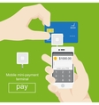 Smartphone with processing of mobile payments from vector image