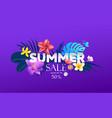 summer sale tropical colorful flower desig vector image