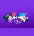 summer sale tropical colorful flower design vector image