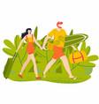 summer vacation holidays man and woman vector image vector image