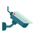 surveilance camera flat icon security and cctv vector image vector image