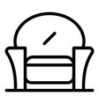 textile armchair icon outline style vector image vector image