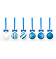 transparent and blue christmas ball with snow vector image vector image