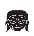 vampire emoji black concept icon vampire vector image