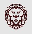 vintage head lion mascot logo vector image vector image