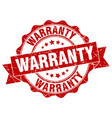 warranty stamp sign seal vector image vector image