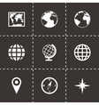 world map icon set vector image