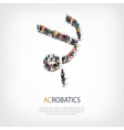 people sports acrobatics vector image