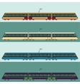 Set of tramtrains vector image