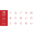 15 paper icons vector image vector image