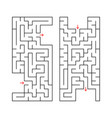 a set of two rectangular labyrinths simple flat vector image vector image