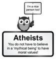 Atheist people vector image vector image