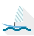 boat surf vector image vector image