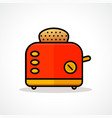 bread toaster design icon vector image vector image
