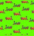 bright cartoon steam locomotive seamless vector image vector image