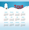 calendar 2018 year week starts from sunday vector image