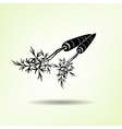 Carrot icon Two vegetables leaves Black vector image