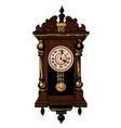 cartoon image of old clock vector image vector image
