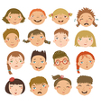 Childrens faces vector image vector image