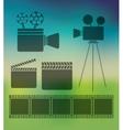 cinema entertainment design vector image vector image