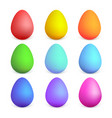 colorful easter eggs with different colors easter vector image vector image