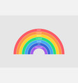 colorful rainbow on gray background every hunter vector image