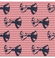 Cute bows seamless pattern vector image vector image