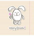 easter bunny sticker vector image