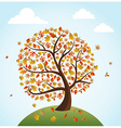 Fall season vintage banner global composition vector image
