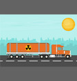 flat truck vector image vector image