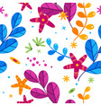 floral simplify seamless pattern on white vector image