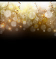 golden and black background vector image vector image