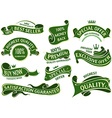 Green Banner Ribbon Set vector image