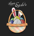 happy easter golf balls in form eggs vector image vector image