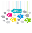 happy new year 2015 greeting design with hang vector image vector image