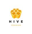 hive honey logo icon vector image