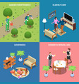 home workers design concept vector image