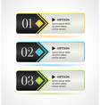 Horizontal black options banners or buttons vector image vector image