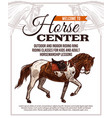 horse riding poster for horse center vector image vector image