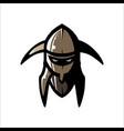 image of helmet of the viking vector image