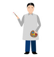 isolated painter avatar vector image