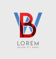 logo letters with blue and red gradation vector image vector image